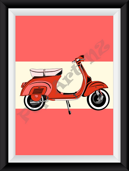Limited edition Scooter Motorbike - Cherry