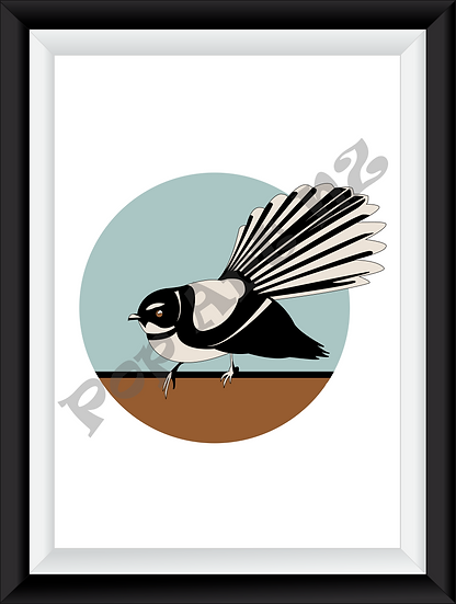 Limited edition Fantail bird NZ - Pacifica
