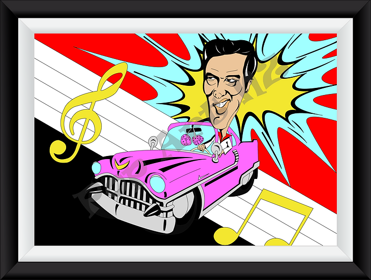 Limited edition Elvis Presley Caricature