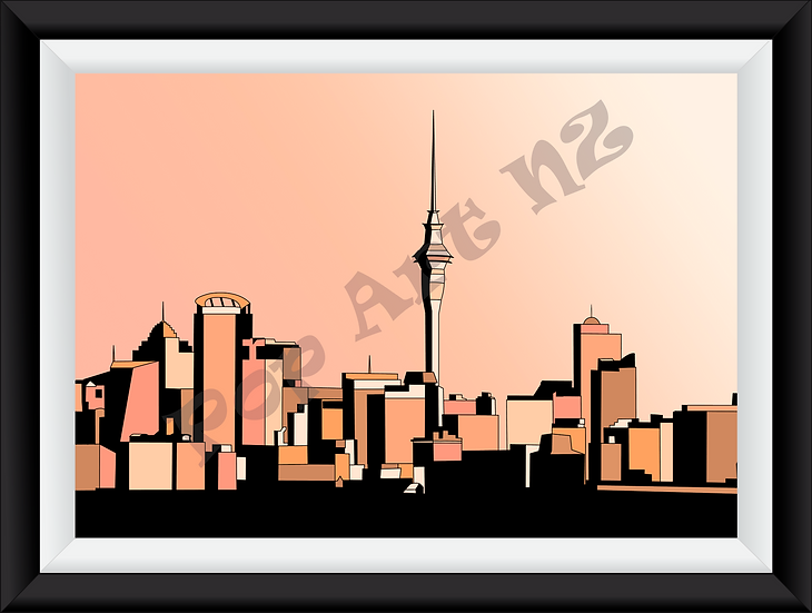 Limited Edition Auckland City - Sunset