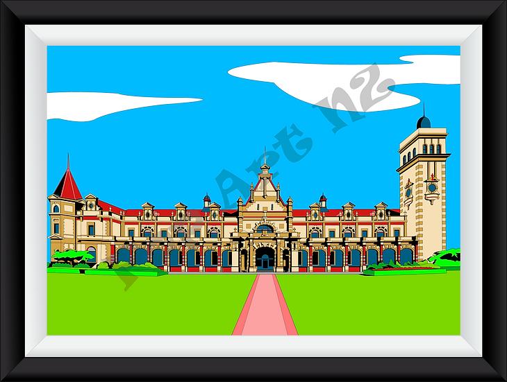 Limited Edition Pop Art styled Dunedin Railway Station