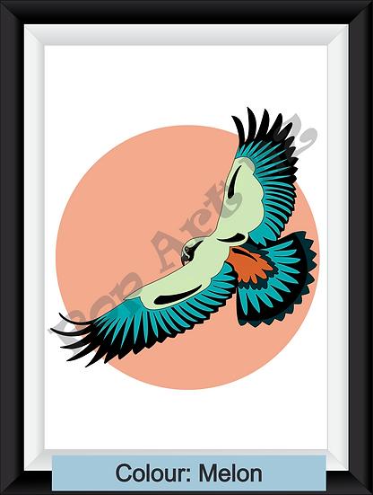 Limited Edition Kea bird in flight - various colours