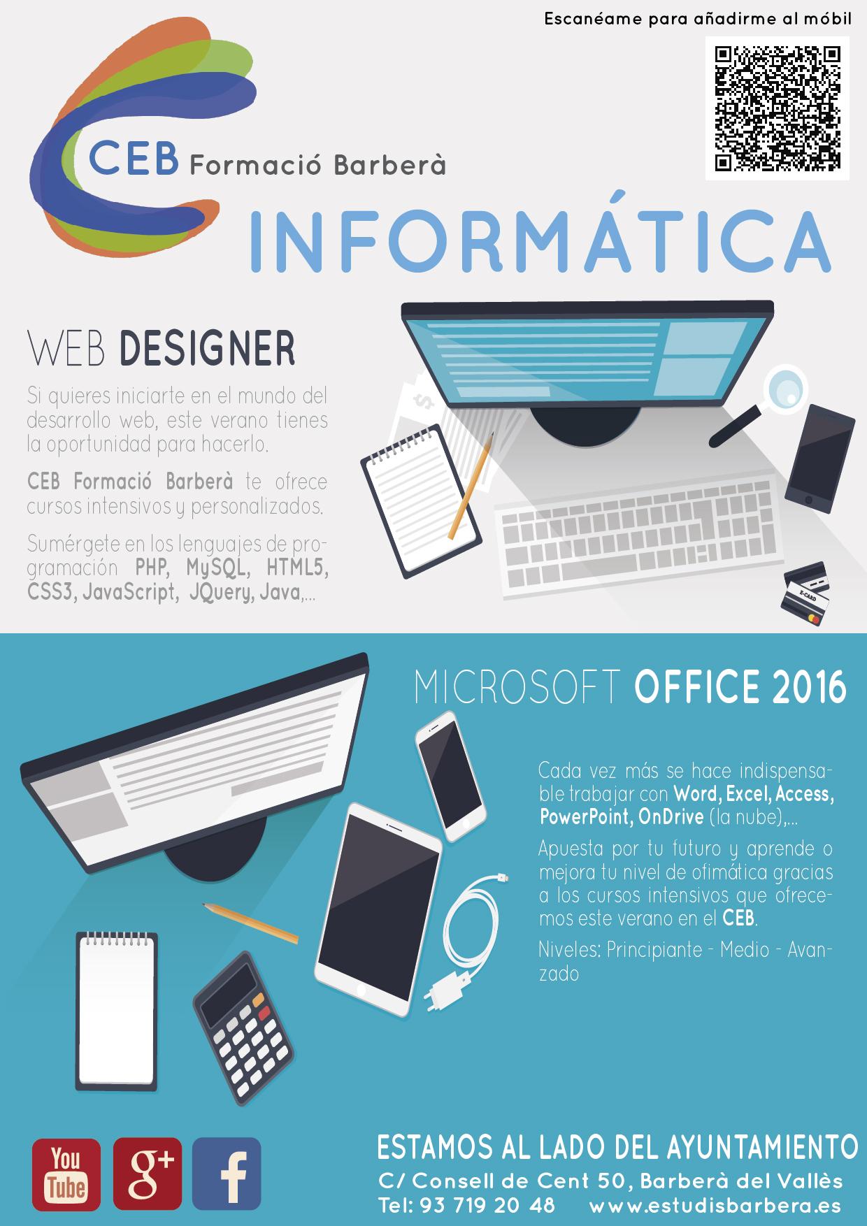 Cursos de informática 2016