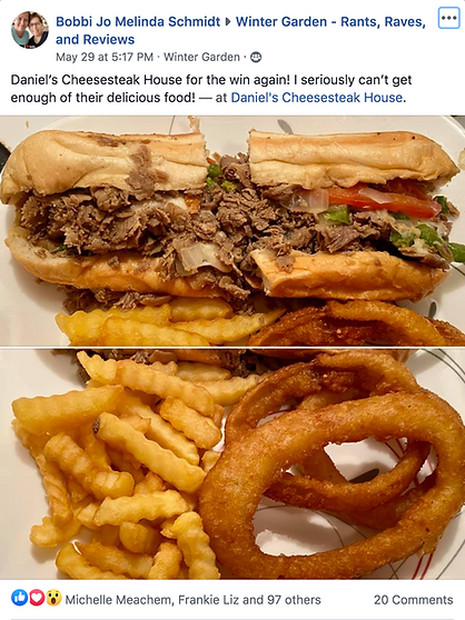 Daniel's Cheesesteak House reviews