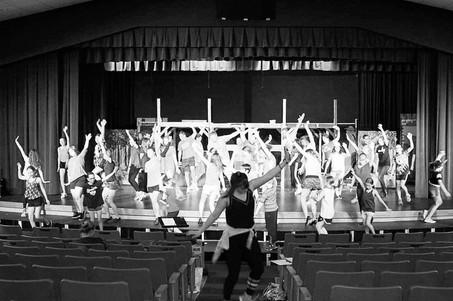 Shrek The Musical Rehearsal