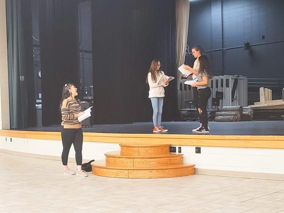 Mamma Mia Rehearsal