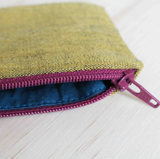 small coin purse, detail