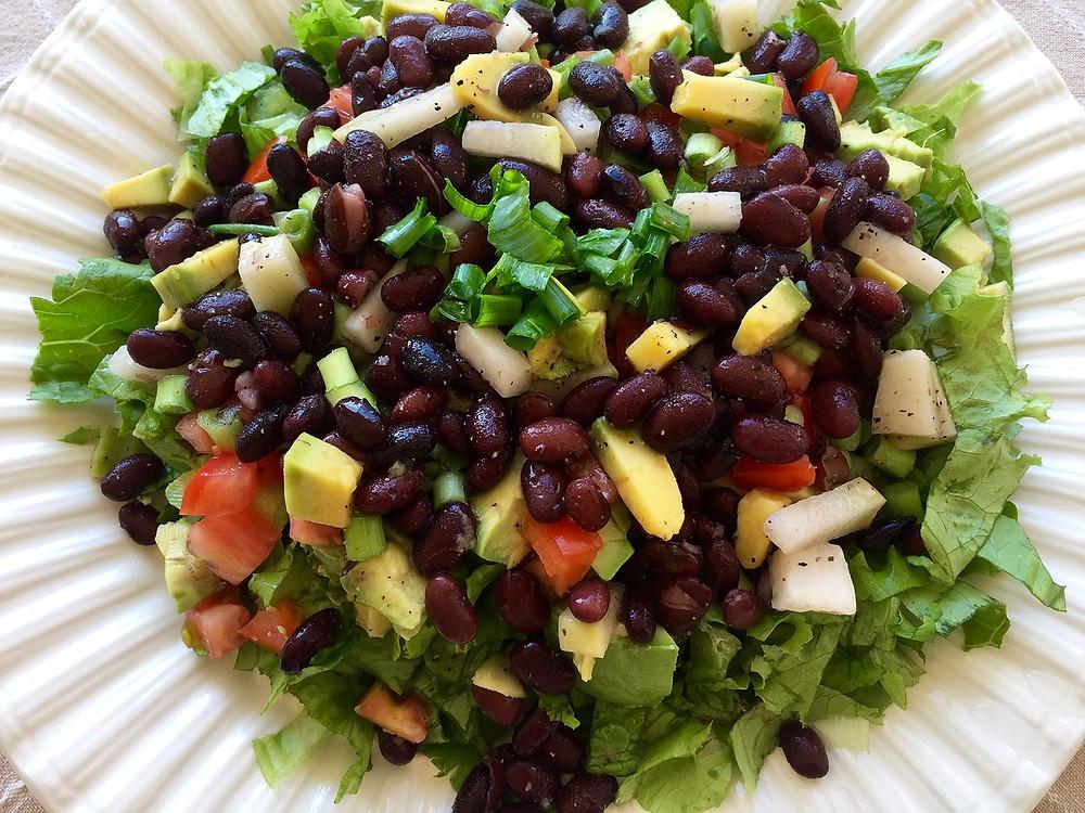 vegan recipe black bean salad