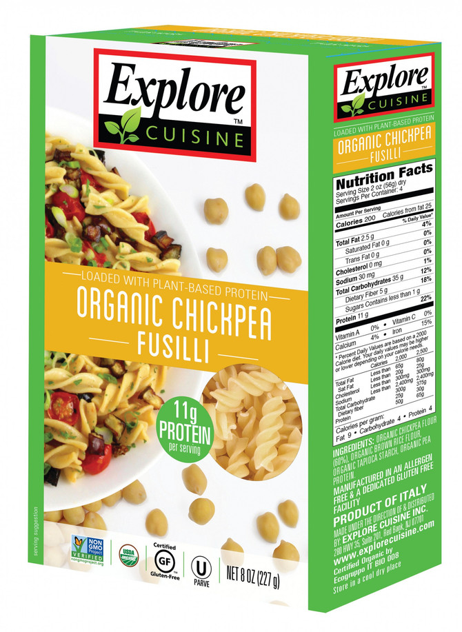 Product review -  Explore Cuisine Organic Chickpea Fusilli