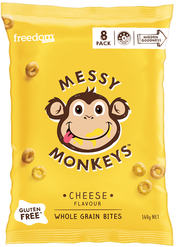 Product review: Messy Monkey CHEESE FLAVOURED WHOLE GRAIN BITES