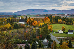 The countryside of New Brunswick, Canada
