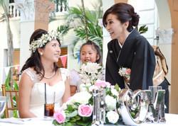 Mom & Bride At Wedding Reception