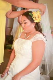 Finishing Touches On The Wedding Veil