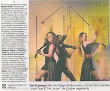 Violinen Trio Laruan bei der Eröffnung der jüdischen Kulturtage in Köln