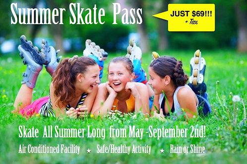 Summer Skate Pass ($69 + Tax)