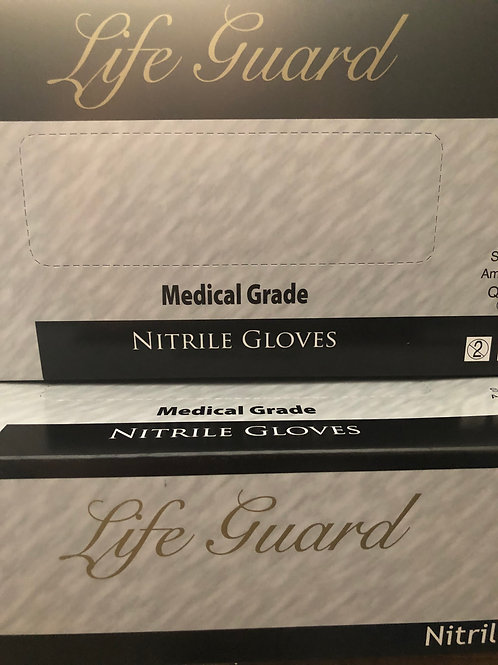 Lifegaurd Blk Nitrile Gloves