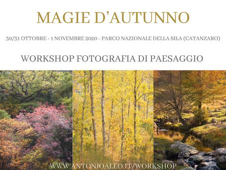 Workshop di fotografia di paesaggio: ''Magie d'Autunno'' di Antonio Aleo