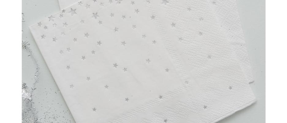 Silver Star Canape Napkins x 20