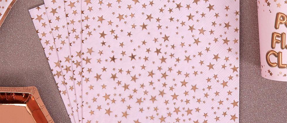 Pink & Rose Gold Napkins