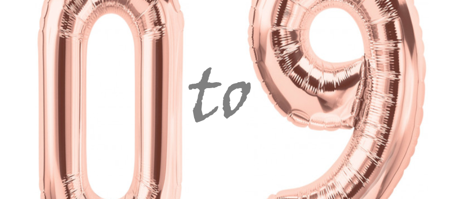 Rose gold helium filled balloons for delivery