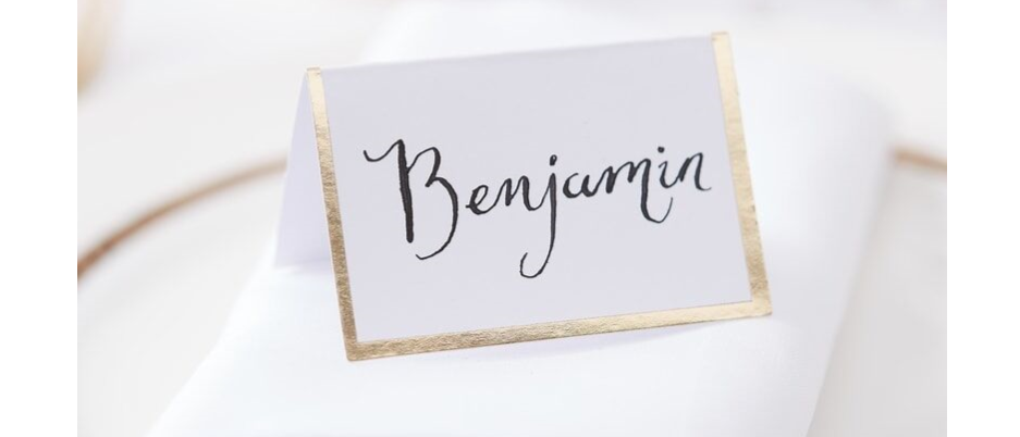 place card, white and gold place cards, wedding table place card, place cards for a wedding