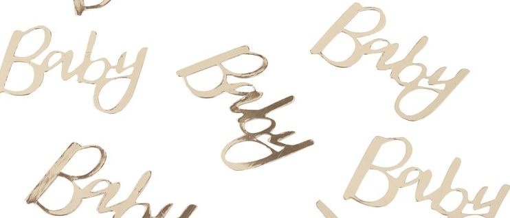 Gold Foiled Baby Table Confetti