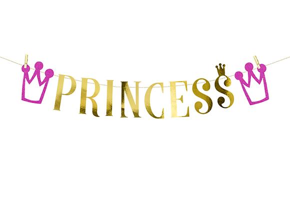 Gold Princess Banner - 90 cm