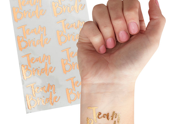 Hen party temporary tattoos, team bride hen party