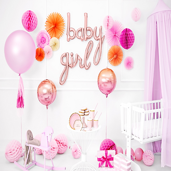 Pink baby girl decorations