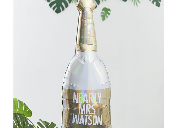 Champagne Bottle Personalised Balloon