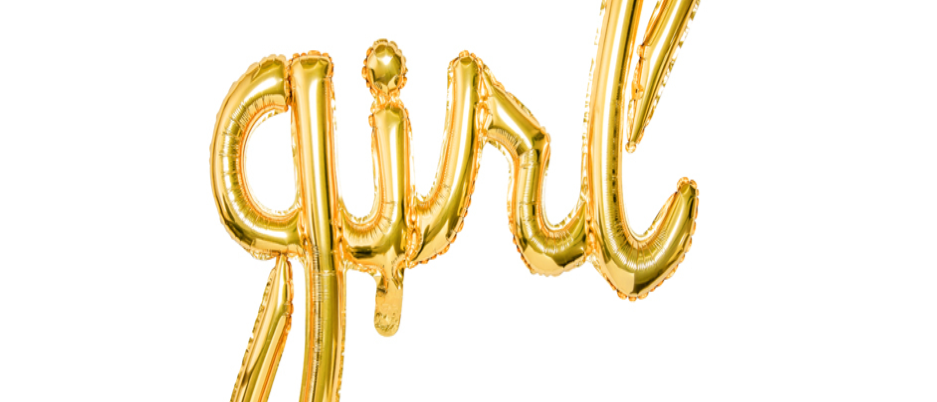 Gold Girl Script Balloon
