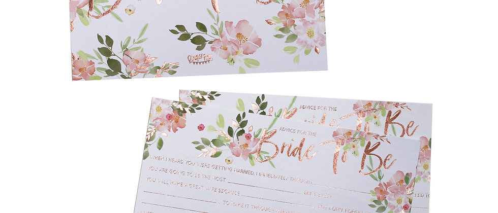 Floral Team Bride Advice Cards