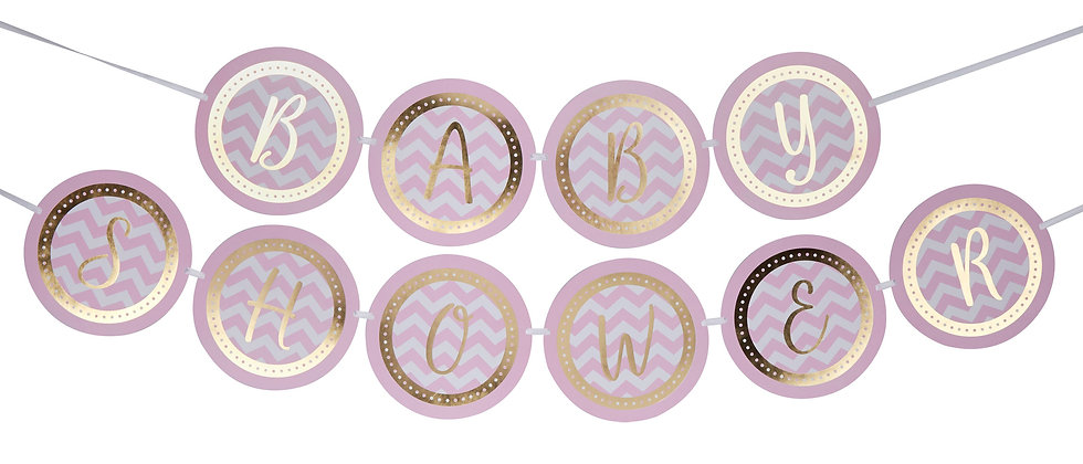 Pink And Gold Baby Shower  Garland