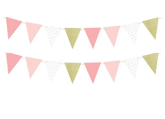 Pink And Gold Bunting