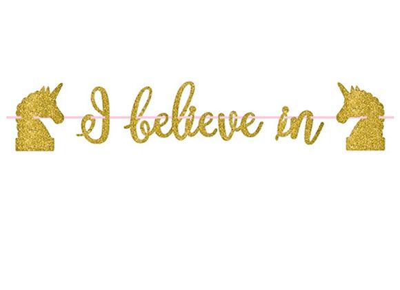 I Believe In Gold Glitter Garland