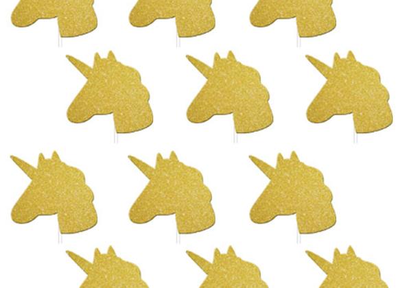 Unicorn Glitter Cake Toppers