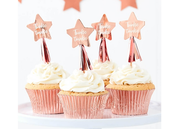 Twinkle Twinkle Cupcake Toppers (x 12)