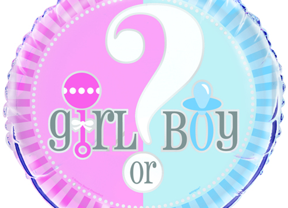 Gender Reveal Party Foil Balloon