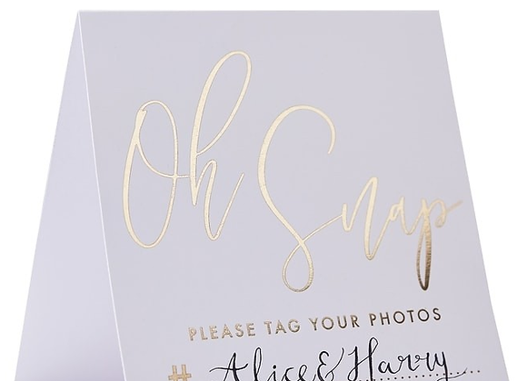 Gold Instagram Tent Cards