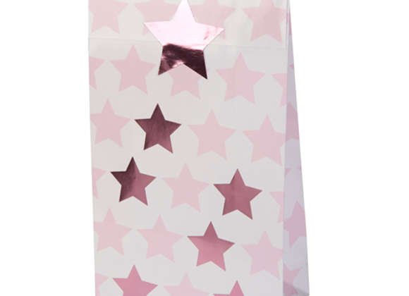 Pink Star Party Bags (x 5)