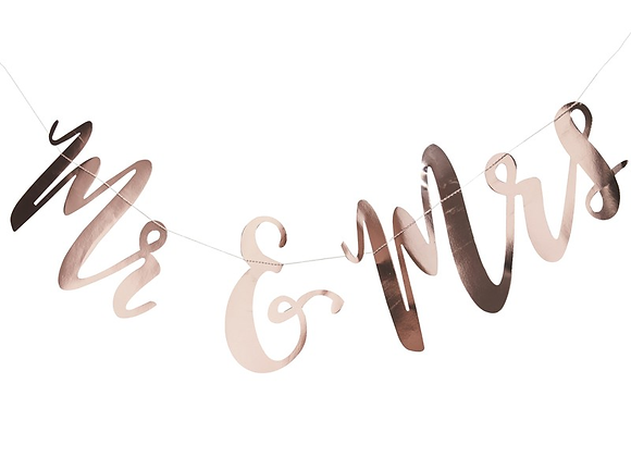 Mr And Mrs Rose Gold Garland