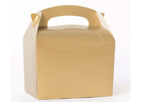 Gold Party Boxes (x 6)