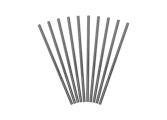 Silver Metallic Paper Straws