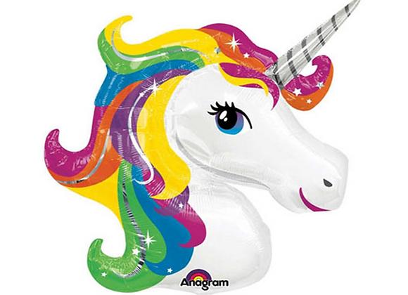 "Inflated Rainbow Unicorn 33"" Balloon"