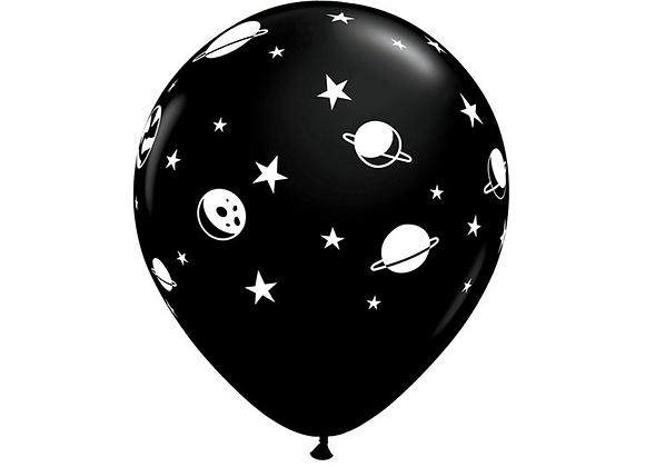 "Space Print 11"" Latex Balloons (x 6)"