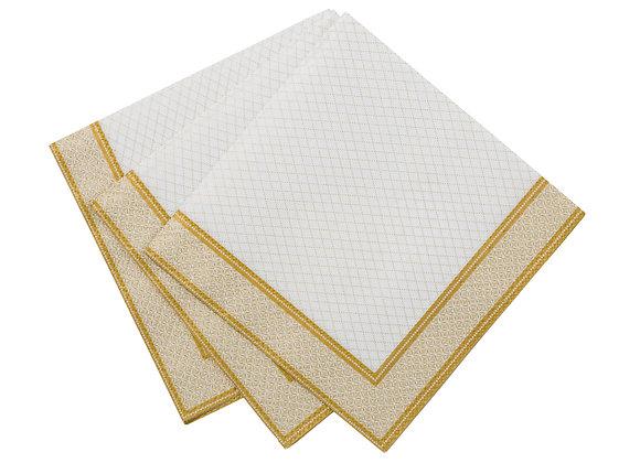Gold & White Canape Napkins