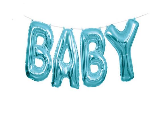 """Blue """"BABY"""" Garland"""