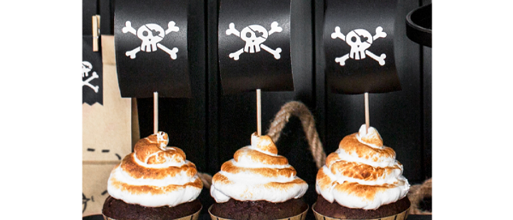 Pirates Party Cupcake Kit (x 6)