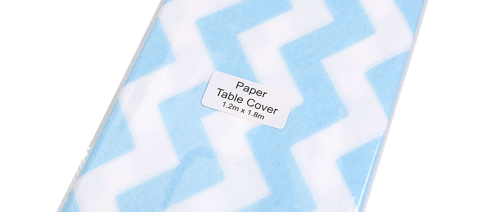 Blue And White Paper Table Cover