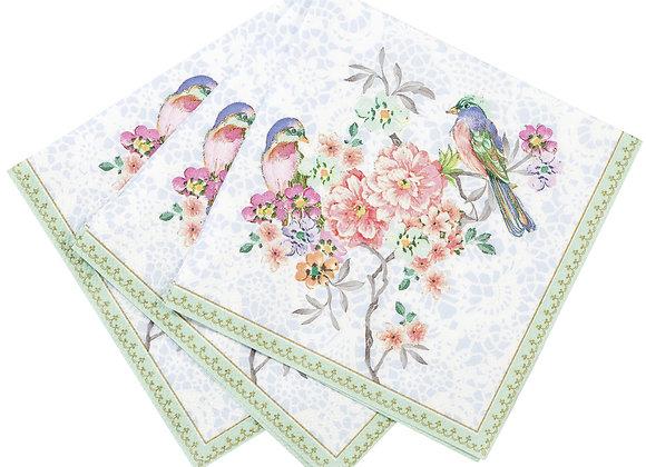Floral Vintage Look Canape Napkins